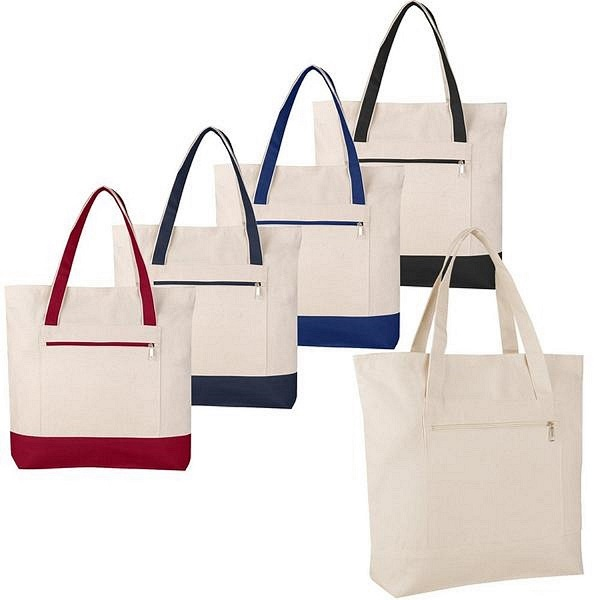 Cotton Tote Bag with Zipper - 1196