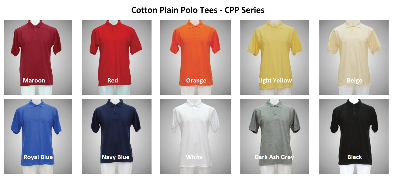 Cotton Plain Polo Tees