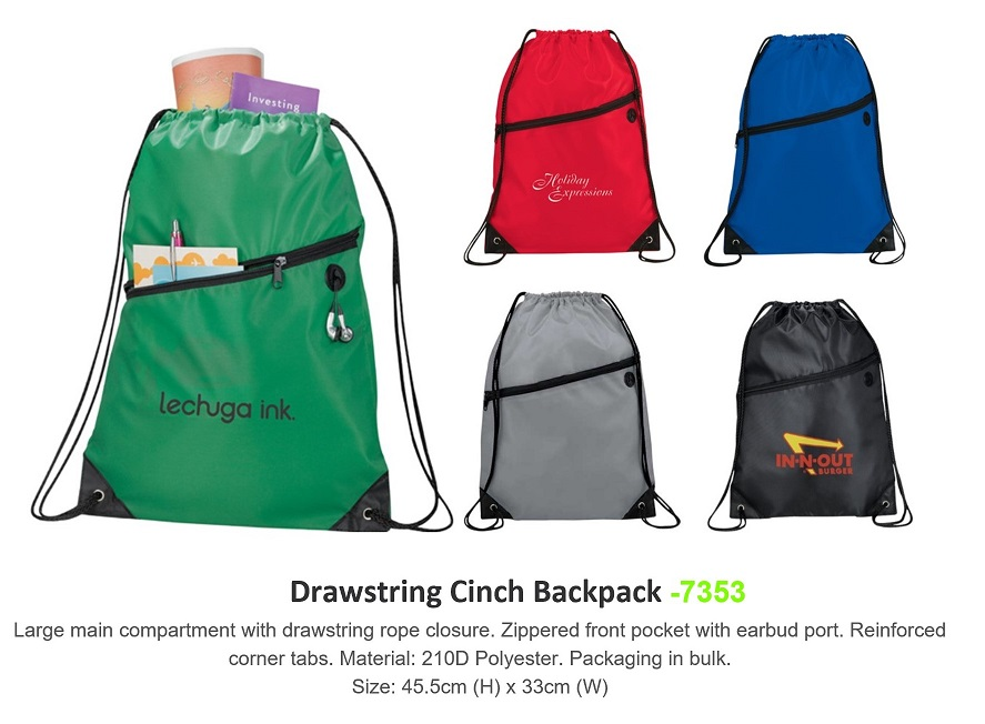 Drawstring Backpack - 7353
