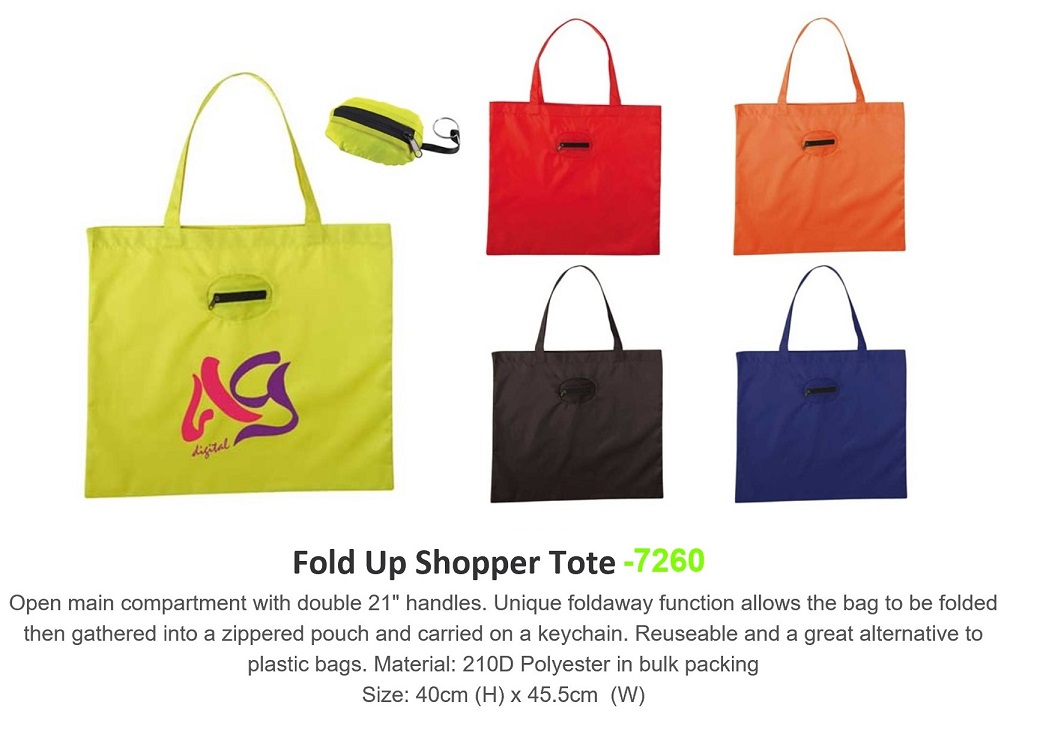 Foldable Shopper Tote Bag - 7260