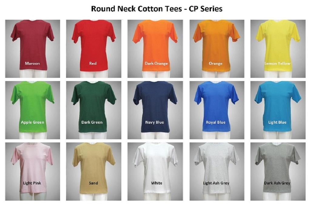 Round Neck Cotton Tees - CP Series