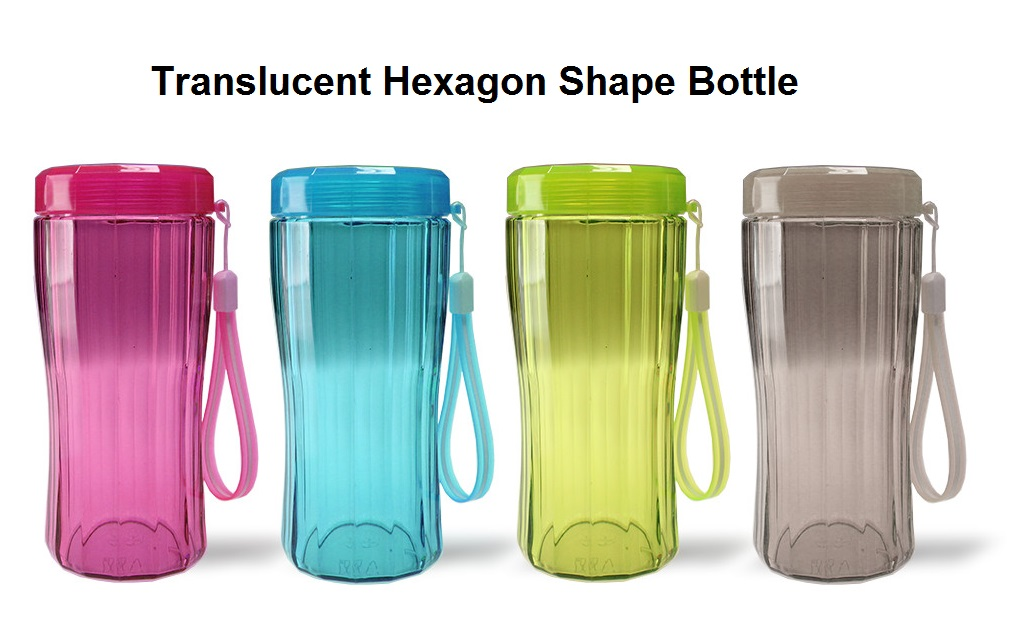 Translucent Hexagon Bottle - 320