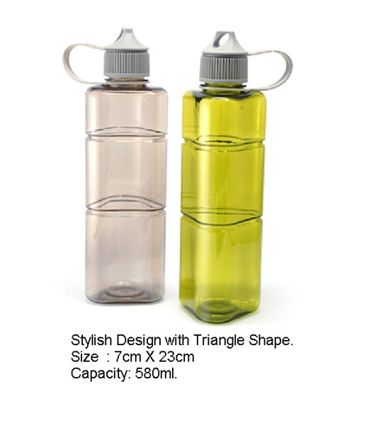 Tritan Triangular Shaped Water Bottle - 1211