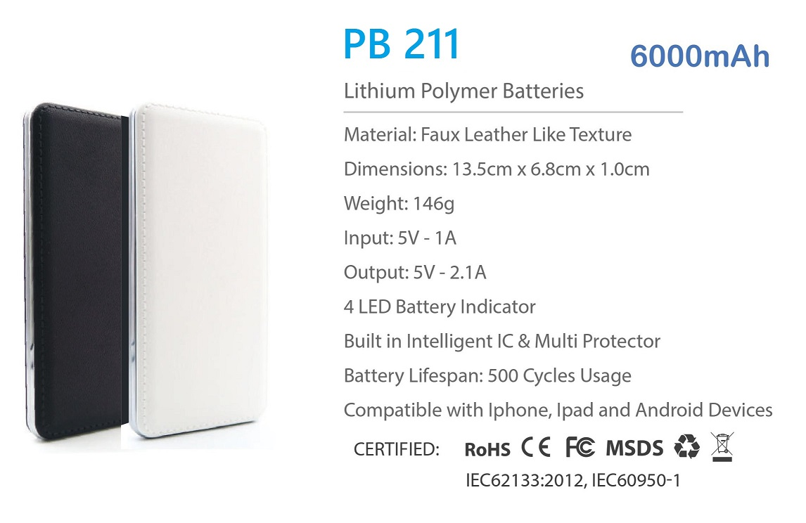 PB 211 Power Bank - 6000mAh